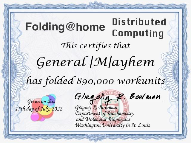 Folding@home stats report