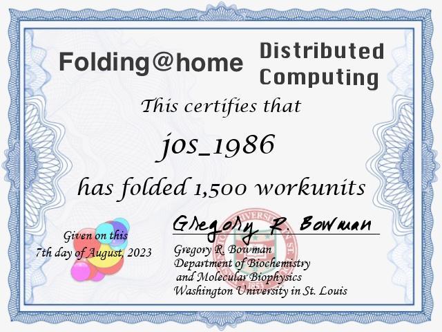 Folding@home WU certificate